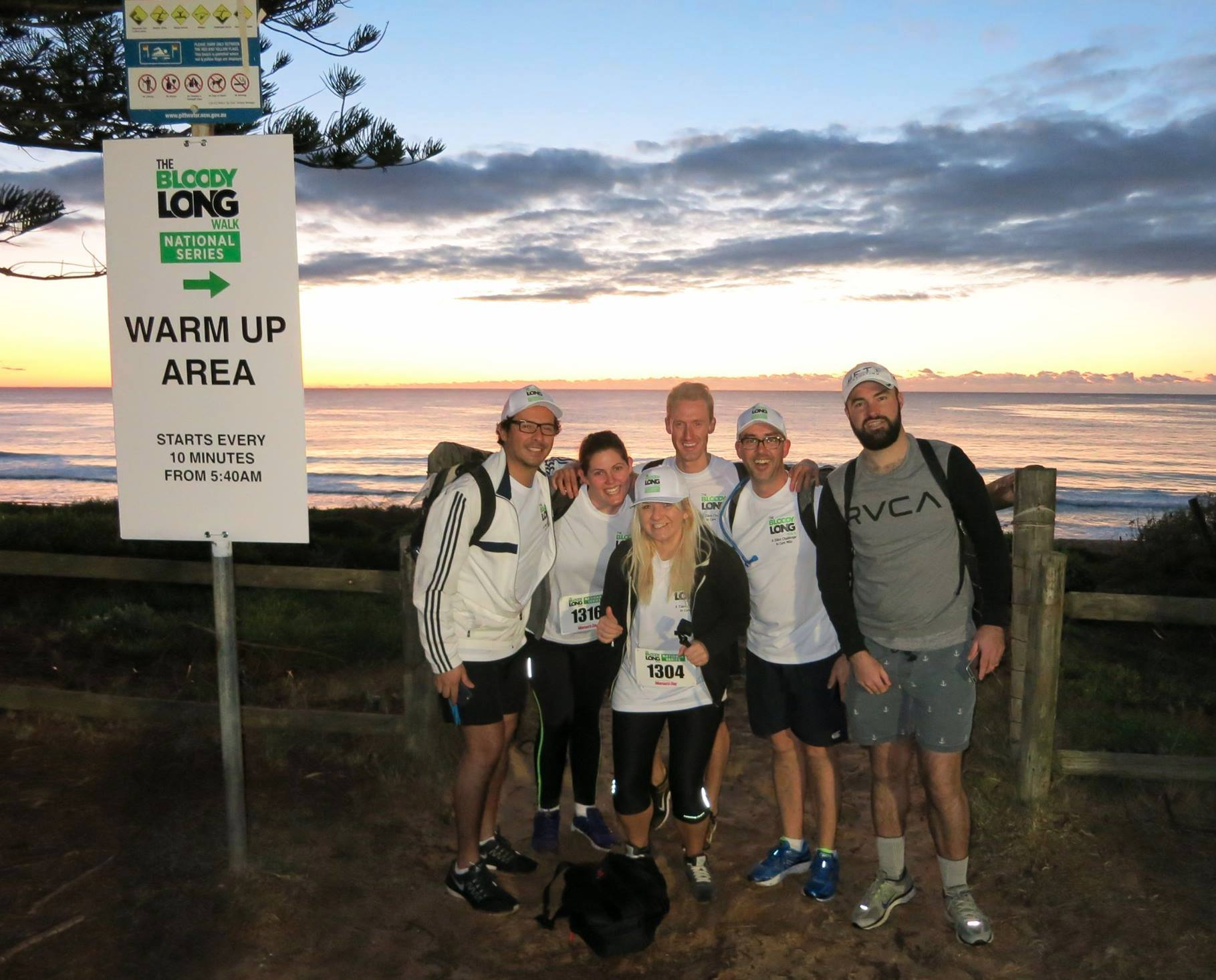 Sunrise for the AMDF 35km walk